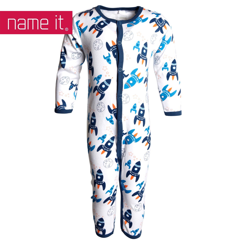 neu name it baby kinder schlafanzug einteiler rakete f r jungs cool ebay. Black Bedroom Furniture Sets. Home Design Ideas