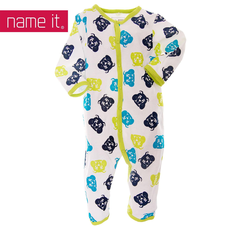neu name it baby kinder schlafanzug einteiler bulldogge ebay. Black Bedroom Furniture Sets. Home Design Ideas