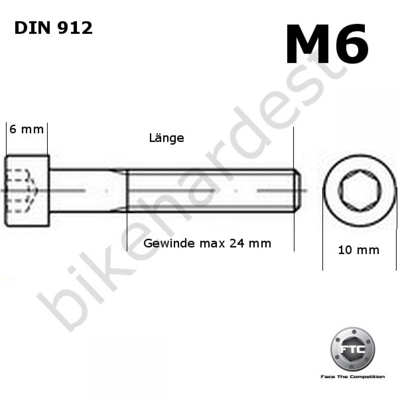Aluminio tornillo rojo m5 x 12-25 mm senkkopf similar a din 7991 al7075