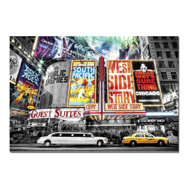 bild poster kunstdruck new york theatre ebay. Black Bedroom Furniture Sets. Home Design Ideas