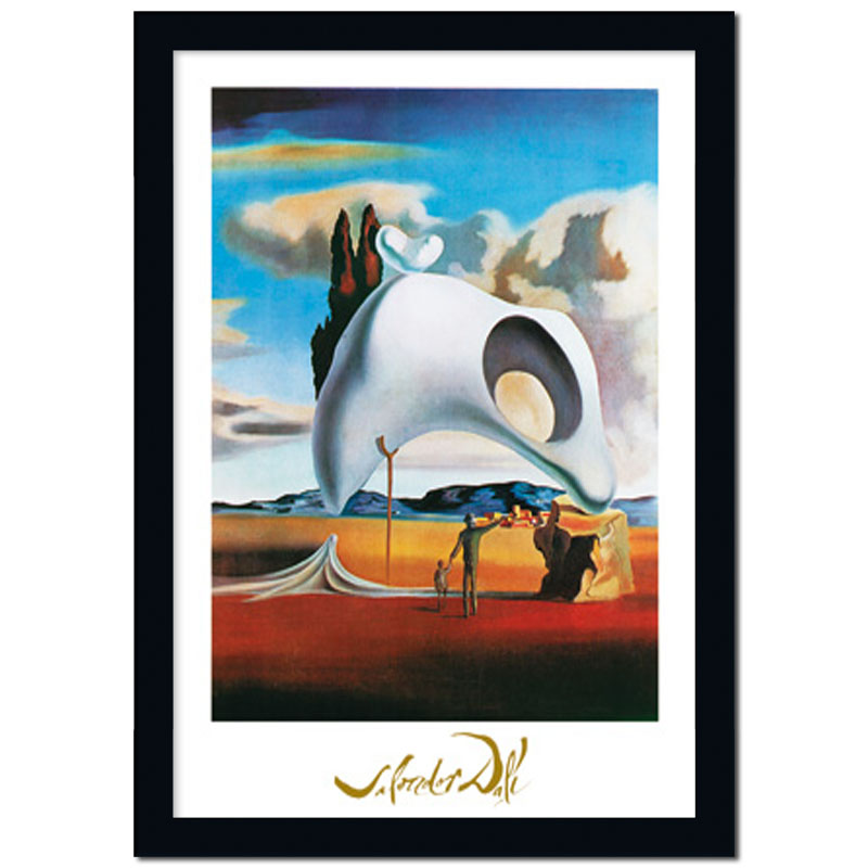 bild mit rahmen poster kunstdruck vestiges ataviques salvador dali ebay. Black Bedroom Furniture Sets. Home Design Ideas