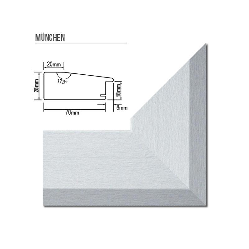 cadre photo munich 70 mm barre de profil 30 tailles choix de couleur alu taill ebay. Black Bedroom Furniture Sets. Home Design Ideas