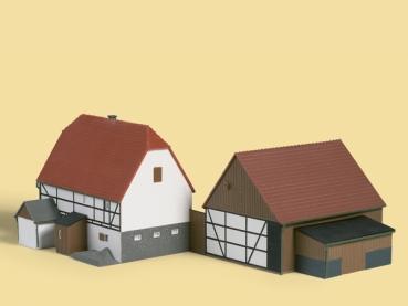 auhagen 11350 kleines geh ft bauernhof h0 ovp neu ebay. Black Bedroom Furniture Sets. Home Design Ideas
