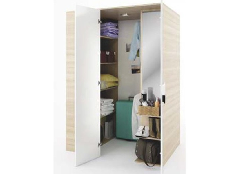 begehbarer kleiderschrank gusto rechts 130 cm eiche creme. Black Bedroom Furniture Sets. Home Design Ideas