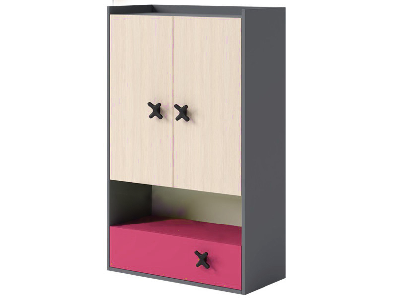 regal b cherregal kinderzimmer iks mit 2 t ren und. Black Bedroom Furniture Sets. Home Design Ideas