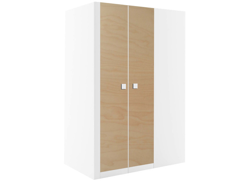 begehbarer kleiderschrank schrank mario rechts 130 cm weiss akazie ebay. Black Bedroom Furniture Sets. Home Design Ideas