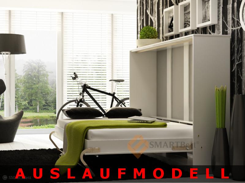 wandklappbett smartbett 140cm horizontal schrankbett funktionsbett auslaufmodel ebay. Black Bedroom Furniture Sets. Home Design Ideas