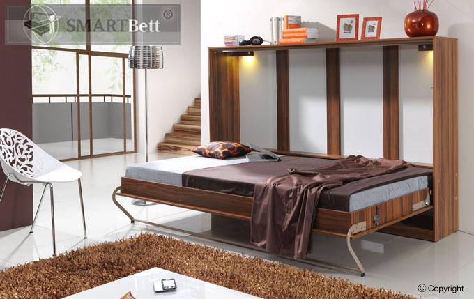 beleuchtung f r horizontales schrankbett smartbett wandbett klappbett wei ebay. Black Bedroom Furniture Sets. Home Design Ideas