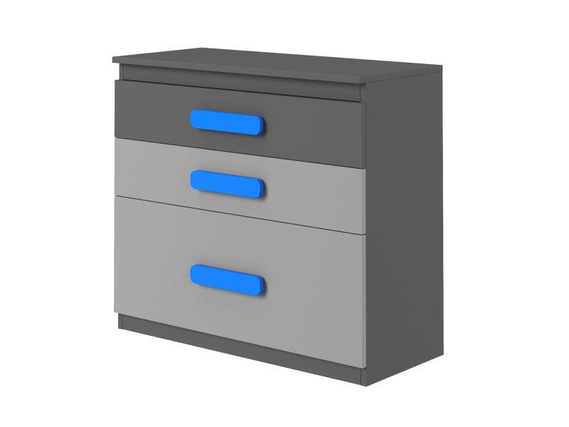 sideboard kommode schubladenschrank anrichte play anthrazit grau t rkis ebay. Black Bedroom Furniture Sets. Home Design Ideas
