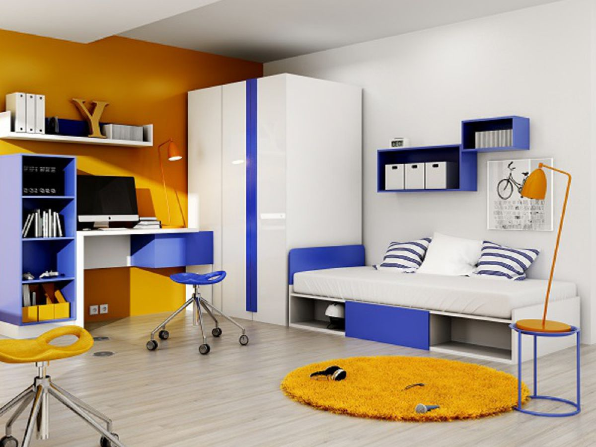 Jugendzimmer rechts 7tlg wei wei hochglanz for Jugendzimmer yeti