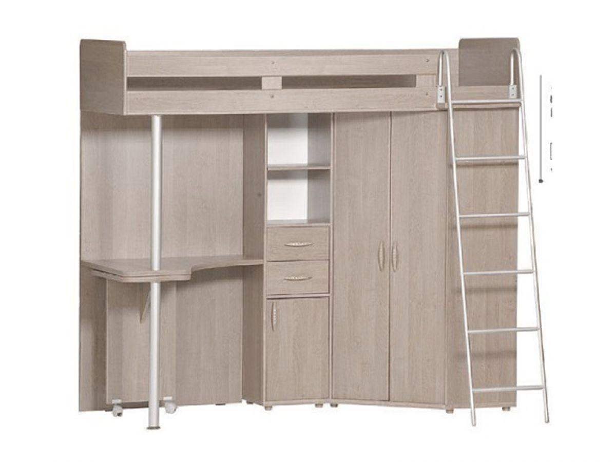 etagenbett jugendzimmer set mit leiter schrank tisch. Black Bedroom Furniture Sets. Home Design Ideas