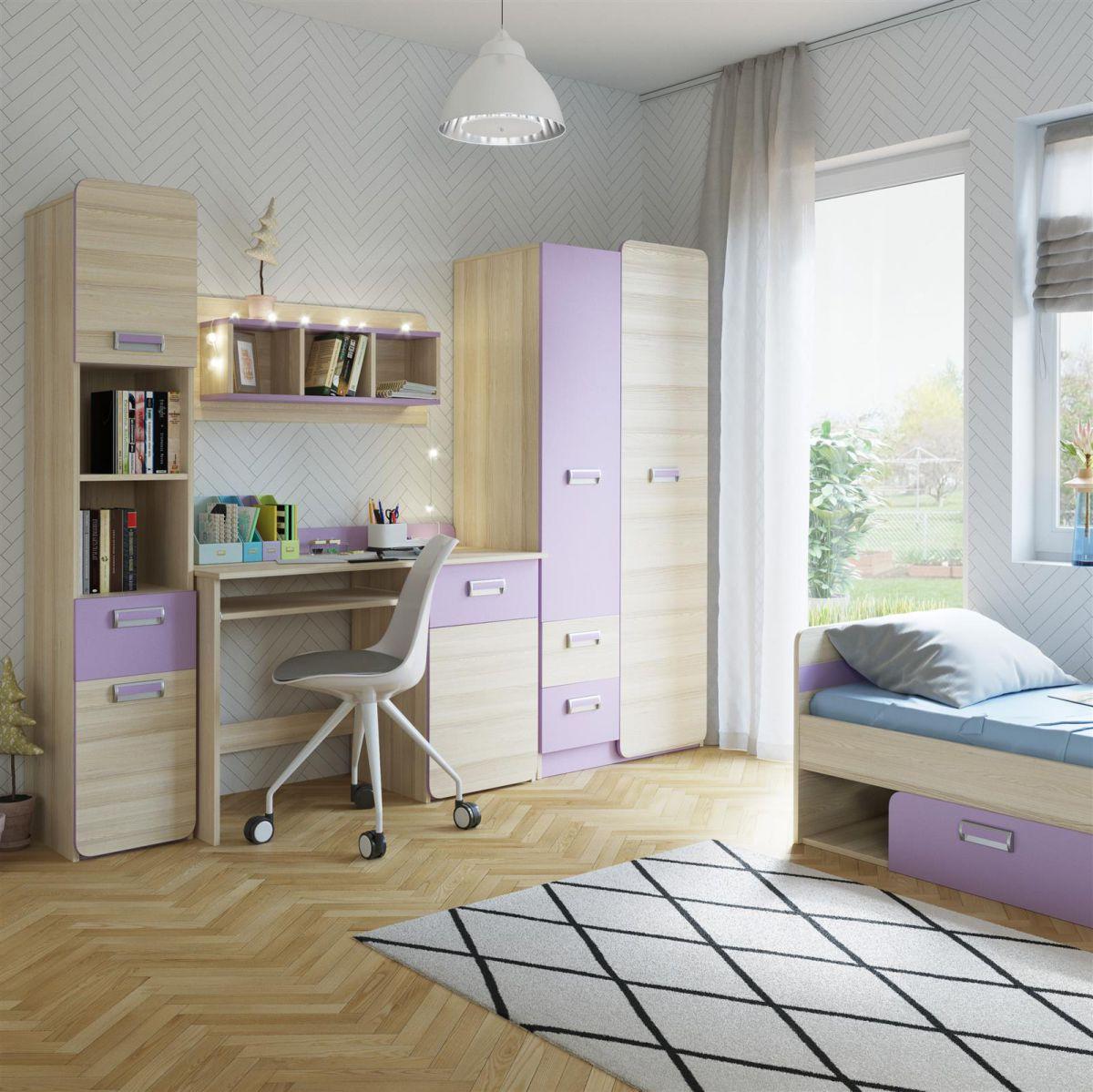 Jugendzimmer kindermoebel tisch bett limo 02 5 tlg for Jugendzimmer couch bett