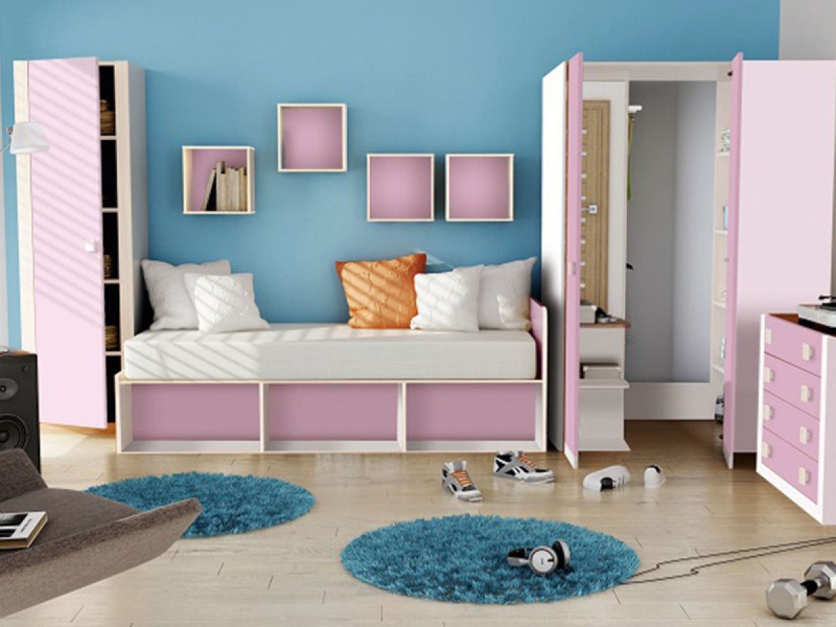 jugendzimmer kindermoebel kleiderschrank bett matratze. Black Bedroom Furniture Sets. Home Design Ideas