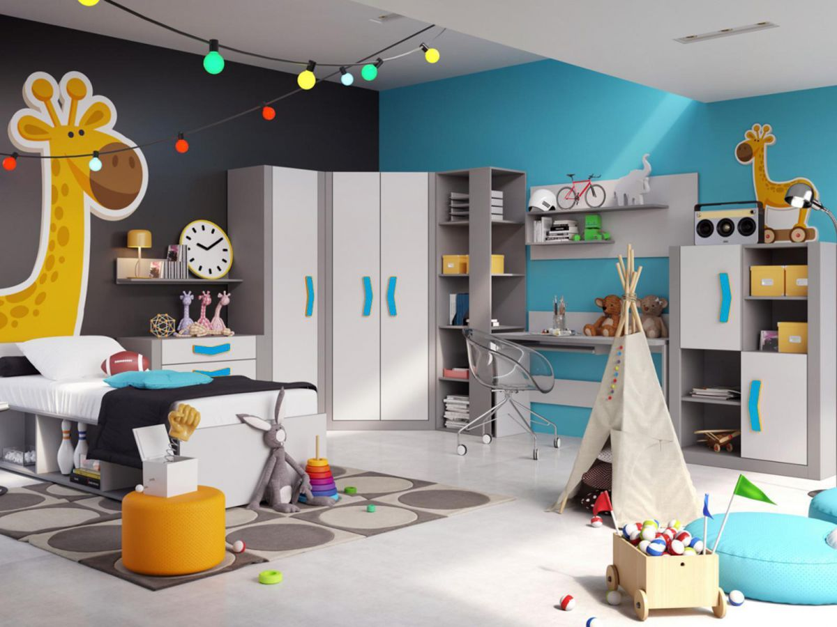 jugendzimmer set boomerang 01 9 tlg anthrazit grau turkis kinderzimmer bett lehrte. Black Bedroom Furniture Sets. Home Design Ideas