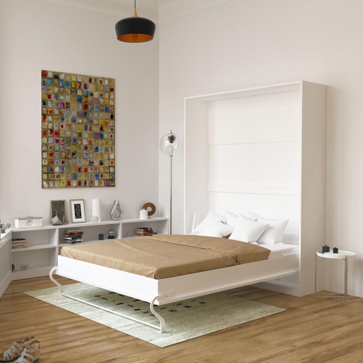 schrankbett 140cm vertikal smartbett farbauswahl bettschrank wandbett ebay. Black Bedroom Furniture Sets. Home Design Ideas