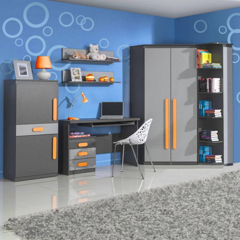 jugendzimmer fuer maedchen und jungen play 02 7tlg. Black Bedroom Furniture Sets. Home Design Ideas