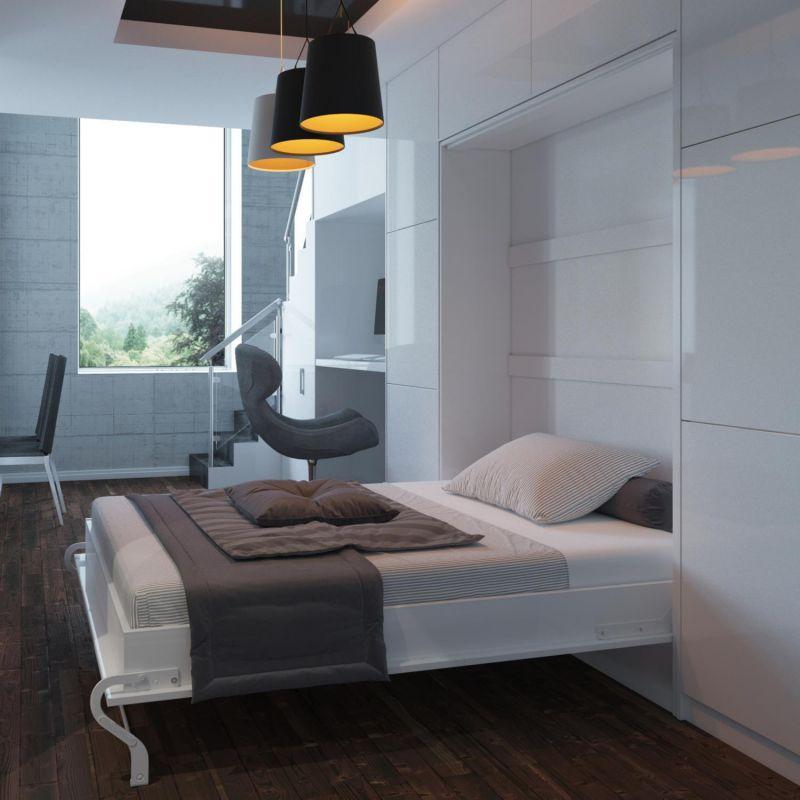 Cama plegable de pared armario invitados 90 160cm - Cama plegable pared ...
