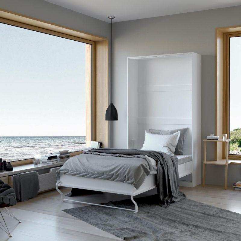 wandklappbett schrankbett g stebett 90 160cm querbett. Black Bedroom Furniture Sets. Home Design Ideas