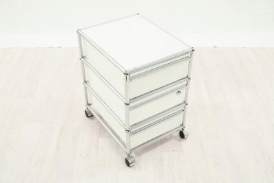 usm haller rollcontainer mit schubladen in wei rollwagen design b ro ebay. Black Bedroom Furniture Sets. Home Design Ideas