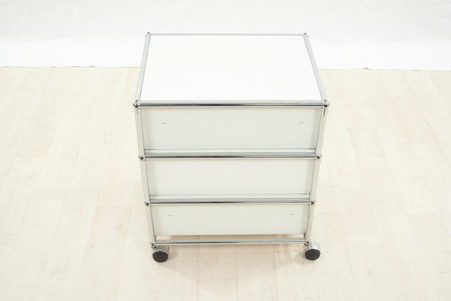 usm haller rollcontainer mit schubladen in wei. Black Bedroom Furniture Sets. Home Design Ideas