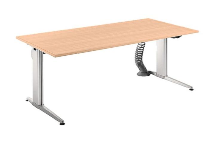 elektrisch h henverstellbarer steh sitz schreibtisch buche 180 x 80cm b rotisch ebay. Black Bedroom Furniture Sets. Home Design Ideas
