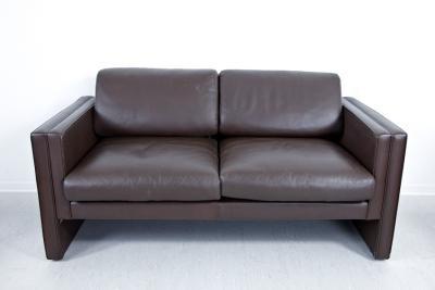 walter knoll studio line sitzgarnitur 2er sofa 2 x sessel leder braun lounge ebay. Black Bedroom Furniture Sets. Home Design Ideas