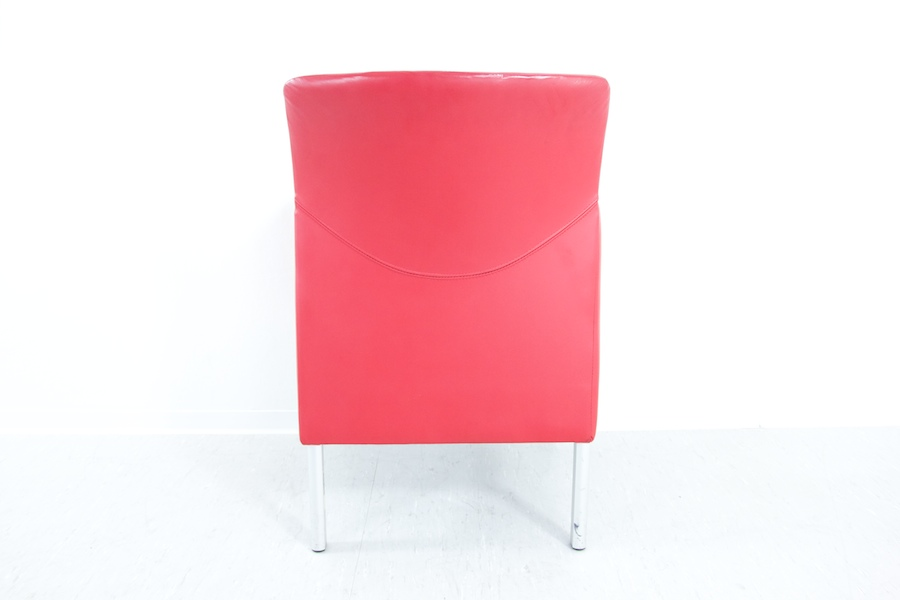 lounge chair in leder rot ledersessel design sessel empfangssessel b ro ebay. Black Bedroom Furniture Sets. Home Design Ideas