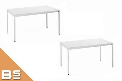 paket 2 x tisch lichtgrau 160 x 80cm vielzwecktisch besprechungstisch schulung ebay. Black Bedroom Furniture Sets. Home Design Ideas