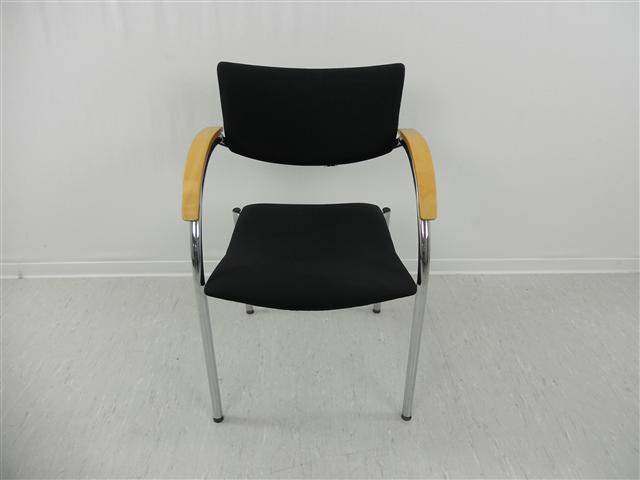 top preis besprechungsstuhl kusch co mit holz armlehnen konferenzstuhl ebay. Black Bedroom Furniture Sets. Home Design Ideas