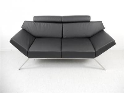 multifunktionales sofa aus leder slowfox couch lounge empfang sitzecke design ebay. Black Bedroom Furniture Sets. Home Design Ideas