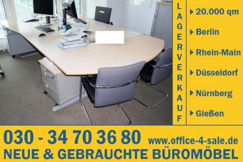 Freiform Schreibtisch Bürotisch ahorn König & Neurath Büromöbel ...