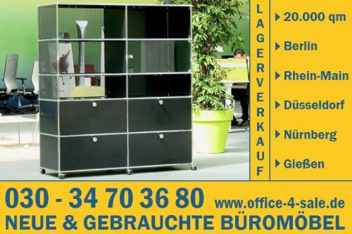 USM Haller Regal mit 10 Modulen in schwarz Designmöbel Stauraum ...