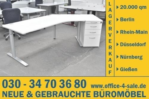 2-tlg. Arbeitsplatz v. Kinnarps Büromöbel: Schreibtisch + ...
