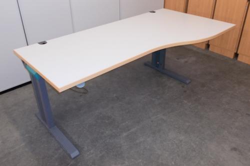 Desklift-Schreibtisch Bürotisch Freiformtisch in lichtgrau von ...