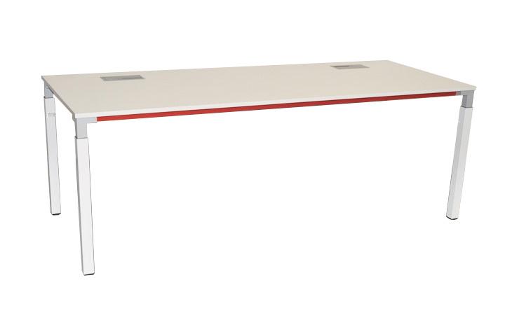 steelcase schreibtisch kalidro wei rot 200 x 80 cm b rotisch arbeitstisch ebay. Black Bedroom Furniture Sets. Home Design Ideas