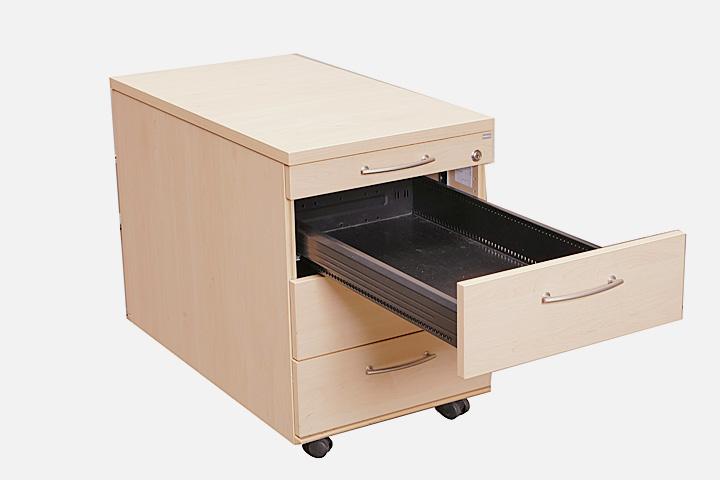 rollcontainer in ahorn mit schubladen gesika rollwagen b rocontainer b rom bel ebay. Black Bedroom Furniture Sets. Home Design Ideas