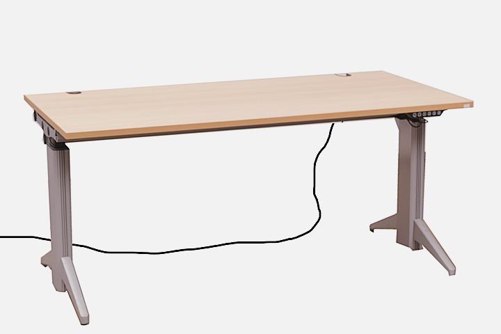 elektrischer steh sitz schreibtisch uno s k nig. Black Bedroom Furniture Sets. Home Design Ideas