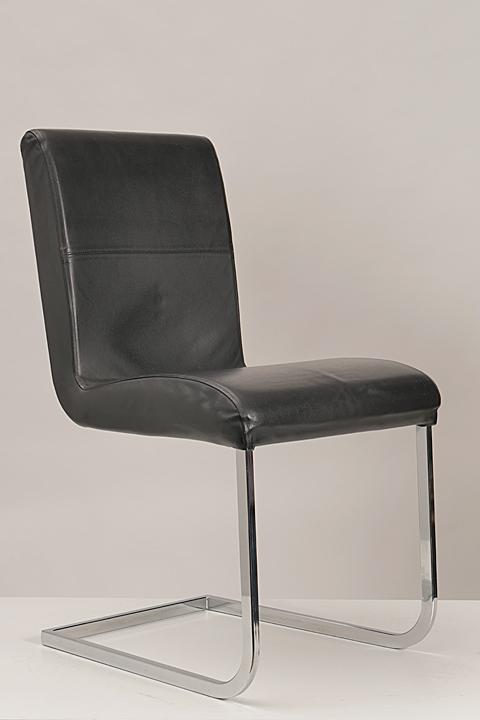 effezeta freischwinger leder schwarz besucherstuhl. Black Bedroom Furniture Sets. Home Design Ideas