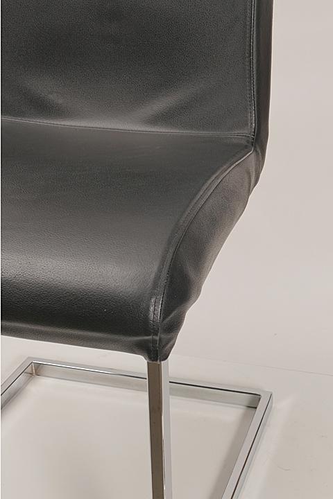 effezeta freischwinger leder schwarz besucherstuhl konferenzstuhl b rostuhl ebay. Black Bedroom Furniture Sets. Home Design Ideas