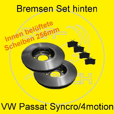 bremse hinten vw passat 3bg 4motion 6 zyl 1ke bel ftet ebay. Black Bedroom Furniture Sets. Home Design Ideas