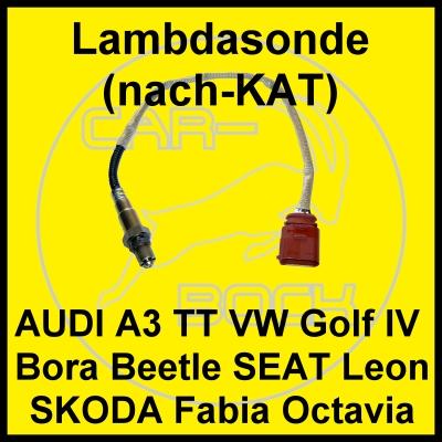 lambdasonde nachkat vw golf 4 bora audi a3 1 6 75kw avu. Black Bedroom Furniture Sets. Home Design Ideas