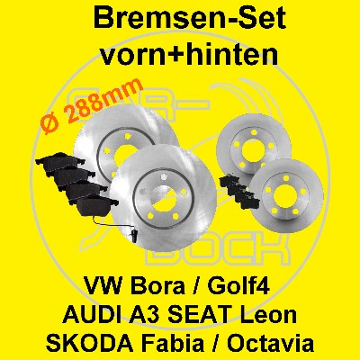 bremsen vorn hinten vw golf4 bora new beetle a3 leon 96kw. Black Bedroom Furniture Sets. Home Design Ideas
