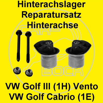 rep satz achslager hinten vw golf 3 vento cabriolet 1e ebay. Black Bedroom Furniture Sets. Home Design Ideas