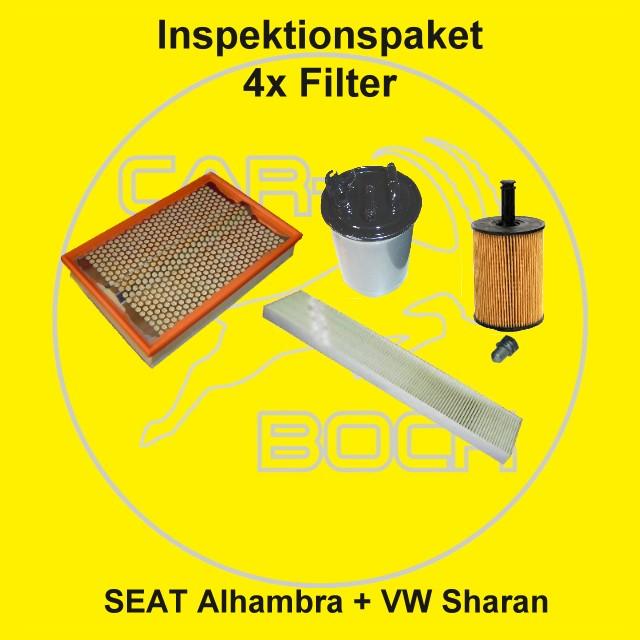 4 filter set inspektionspaket vw sharan 1 9tdi 2 0tdi ebay. Black Bedroom Furniture Sets. Home Design Ideas