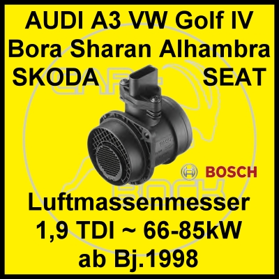 luftmassenmesser luftmengenmesser vw golf4 bora 1 9 tdi ebay. Black Bedroom Furniture Sets. Home Design Ideas