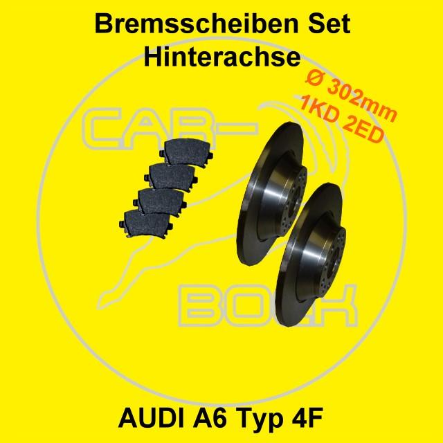 bremse hinten audi a6 4f bremsscheiben bremsbel ge ebay. Black Bedroom Furniture Sets. Home Design Ideas