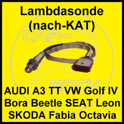 lambdasonde nach kat audi a3 1 6 75kw motor avu bfq ebay. Black Bedroom Furniture Sets. Home Design Ideas