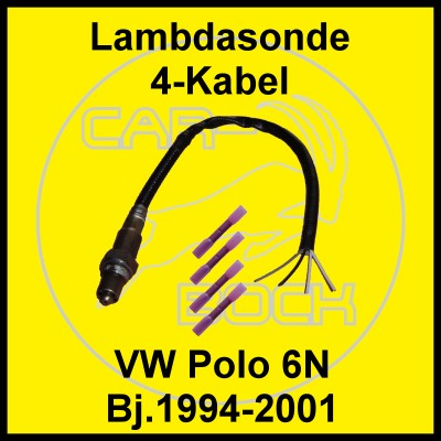 lambdasonde 4 kabel vw polo 6n 1 6 55kw aea aee ahs ahw ebay. Black Bedroom Furniture Sets. Home Design Ideas