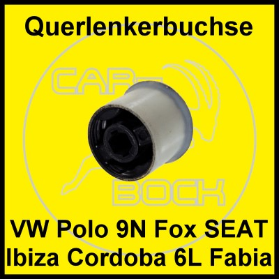 querlenker lager lagerbuchse vw polo 9n fox skoda fabia ebay. Black Bedroom Furniture Sets. Home Design Ideas