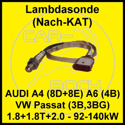 lambdasonde nach kat audi a4 8e 1 8t 110 140kw ebay. Black Bedroom Furniture Sets. Home Design Ideas